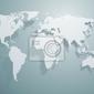 Fototapeta wektorowa mapa świata