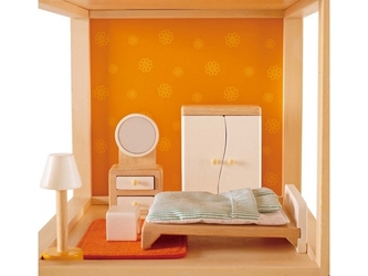 Sypialnia drewniane mebelki dla lalek