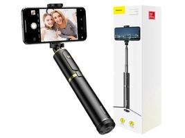 Baseus selfie stick fully kijek monopod statyw z pilotem bluetooth gold - złoty    czarny
