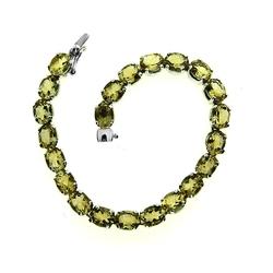 bransoletka srebrna z naturalnymi kryształami