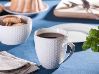 Duży kubek porcelanowy do kawy i herbaty altom design honey złota linia 430 ml