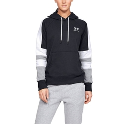 Bluza damska under armour rival fleece lc logo hoodie novelty - czarny