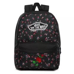 Plecak szkolny vans realm beauty floral black custom rose - vn0a3ui6zx3