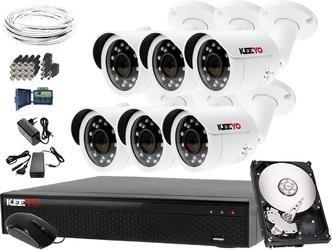 Zestaw do monitoringu: rejestrator lv-xvr84se-ii, 6x kamera lv-al30htw-s, 1tb, akces