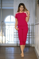 Piżama damska babella gracja jasny rubin