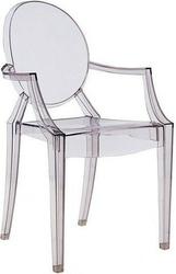 Krzesło louis ghost jasny przydymiony