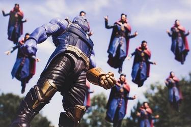Thanos vs dr. strange - plakat wymiar do wyboru: 60x40 cm