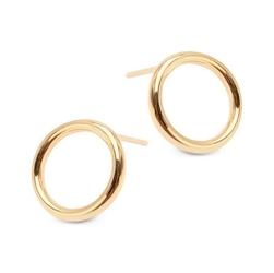 Staviori kolczyki. żółte złoto 0,333. okręgi o średnicy 13,40 mm.