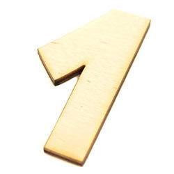 Drewniana cyfra 6 cm - 1 - 1