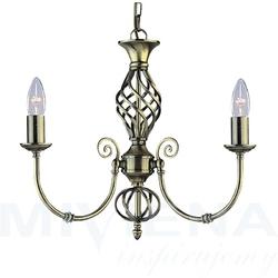 Zanzibar lampa wisząca 3 patyna