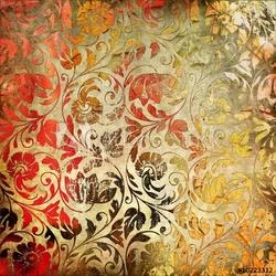 Plakat na papierze fotorealistycznym tło koronkowy