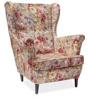 Romantyczny tapicerowany fotel lord