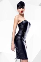Elegancka sukienka ellen czarny s   100 dyskrecji   bezpieczne zakupy