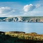 Burgh island cliffs - plakat premium wymiar do wyboru: 29,7x21 cm