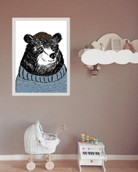 Miś marynarz - plakat wymiar do wyboru: 40x50 cm