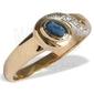 Pierścionek ze złota z szafirem i diamentami jp-30z-r