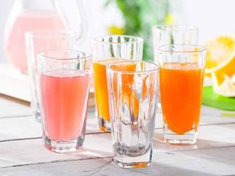 Szklanki do napojów hrastnik stephanie optic long drink 360 ml, komplet 6 szklanek