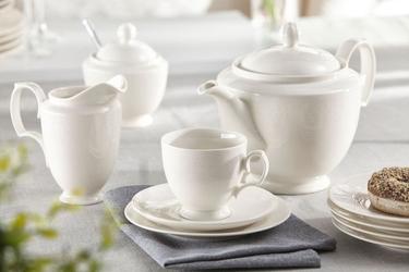 Serwis  zestaw kawowy dla 6 osób porcelana mariapaula ecru queen 21 elementów