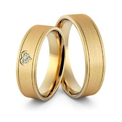 Obrączki ślubne z sercem i brylantami - au-972