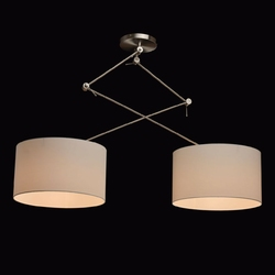 Lampa wisząca podwójna z regulowaną wysokością mw-light megapolis 494012102