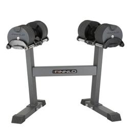 Hantle systemowe ze stojakiem smartlock 20 kg - finnlo - 2 x 20 kg