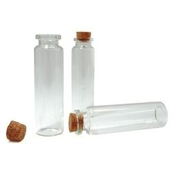 Szklana buteleczka z korkiem 20x75 mm