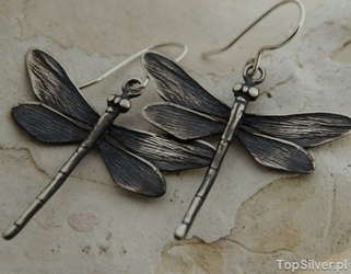 Ważki iii - kolczyki srebrne kolczyki