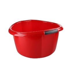 Miska na pranie  łazienkowa z uchwytami plastikowa okrągła solidna bentom czerwona 20 l